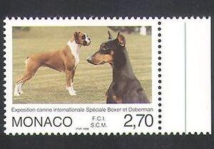 Monaco 1998 Doberman/Boxer/Dogs/Animals/Nature/Pets 1v (n34738)