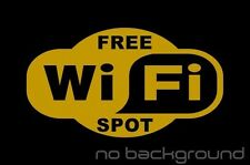 Free WiFi Spot Sticker Vinyl Decal - Store Business Window Wireless Hotspot Sign