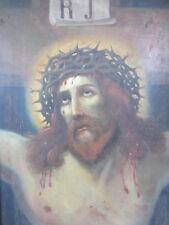 Frühes BAROCK-GEMÄLDE - CHRISTUS mit Dornenkrone - Öl / Holz - 92 x 69cm