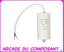 CONDO CONDENSATEUR PERMANENT POUR  DEMARRAGE MOTEUR 450V 60MF + CABLE