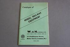 X476 WALKER & HOLTZAPFELL Train catalogueTT O OO 03/1959 56 p 21,2*14 cm ANGL