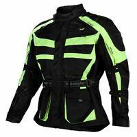 Bangla Motorrad Jacke Motorradjacke Textil Cordura Neon gelb schwarz M - 8 XL