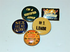 (5) 1980's Sex Theme Enamel Pin Lot
