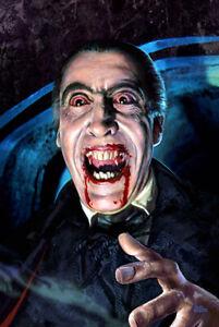 HORROR OF DRACULA Hammer horror movie art CHRISTOPHER LEE by Scott Jackson