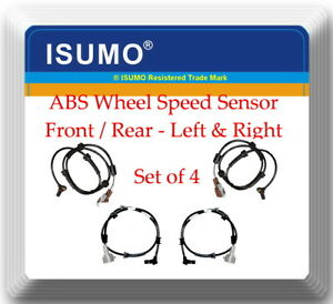Set 4 ABS Wheel Speed Sensor Front & Rear L / R For:Q56 Armada Pathfinder