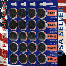 **FRESHLY NEW**20x SONY CR2025 Lithium Battery 3V Exp 2023 Pack 20 pcs Coin Cell