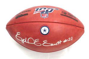 EZEKIEL ELLIOTT SIGNED COWBOYS NFL 100 DUKE GAME MODEL FOOTBALL BECKETT WITNESS
