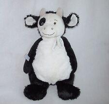 "Happy Horse Cow Como Black White Plush Soft Toy Stuffed New 13"""