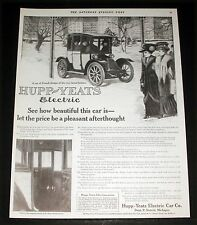 1911 OLD MAGAZINE PRINT AD, HUPP-YEATS ELECTRIC CAR, HOW BEAUTIFUL THIS CAR IS!