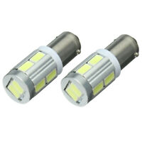 2x Universal BA9S H6W 10SMD LED Sidelight Bulbs Canbus Error Free 6000k Whi M5D8