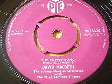 """David Macbeth-marioneta de la canción de vinilo de 7"""""""