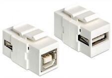 keystone modul usb 2.0 hispeed snap-in adapter verbinder typ a an b buchse weiss