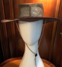Always On Top Down Under Australian Brown Leather Hat  Size M