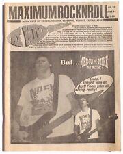 Vtg June 1991 Maximum Rock N Roll Punk Rock Music Zine Magazine No. 97