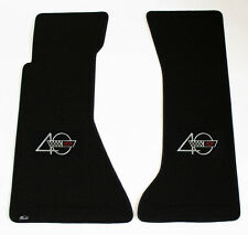 NEW! BLACK FRONT FLOOR MATS 1993 CORVETTE Embroidered 40th Anniversary Logo