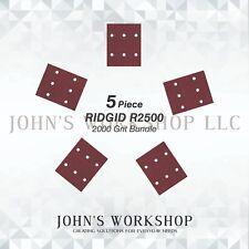 RIDGID R2500 / CRAFTSMAN 315279840 - 2000 Grit - No-Slip - 5 Sandpaper Bundle