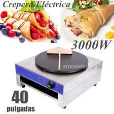"""40"""" 3kW Crepera Eléctrica Acero inoxidable Plancha de Crepes Comida para Cocina"""