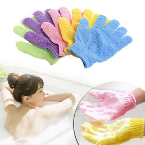 1Pcs Shower Bath Gloves Exfoliating Wash Skin Spa Gloves Foam Cleaning Scrubber