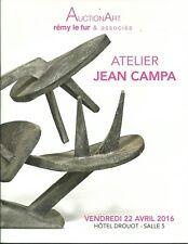 DROUOT PARIS Atelier Jean Campa SCULPTURE Auction Catalog 2016