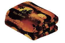 Ultra Soft & Cozy Oversized Halloween Flying Witches Plush Throw Blanket Cover