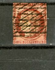 France/ 1849 (Imperforated) 1 Franc Red (Used-Hinged) Cv $2200+