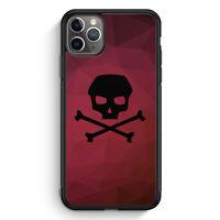 Totenkopf Skull Rot-Schwarz iPhone 11 Pro Max Silikon Hülle Motiv Design Grun...