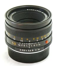 Leica 50mm f/2 Summicron-R ROM E55 lens Germany MINT- #35778