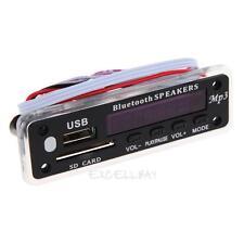 12V MP3 WMA Decoder Board Audio Module Wireless Bluetooth USB TF Radio For Car