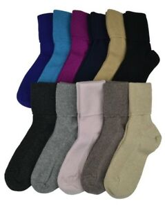 Womens Scottish Cashmere Socks. brown,black,cream, grey,pink,blue,purple Ladies