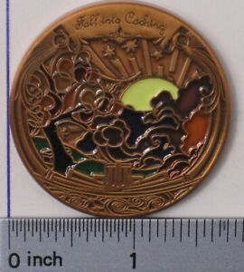 GCC SEPTEMBER 2007 FALL INTO CACHING UNACTIVATED & TRACKABLE GEOCOIN