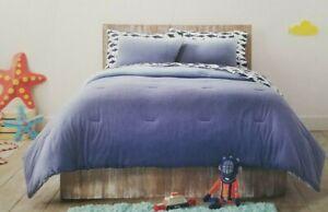 8 pc Pillowfort Jersey Ombre Full Comforter, Shams, Sheet, Deco Pillow Set NIP