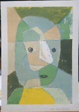 """Paul Klee Vintage Serigraph """"Blue Head"""" 22""""×15.5"""""""
