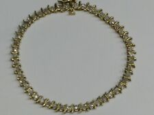 Genuine Diamond 10k Gold Ladies Tennis Bracelet, I3 clarity