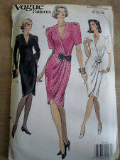 Vogue 7777 OOP Sewing Pattern to MAKE Easy Fitted Straight Wrap Dress Sizes 8-12