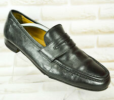 BALLY Black Leather Mens Formal Casual Shoes Loafers Made Italy Size 11 UK 45 EU