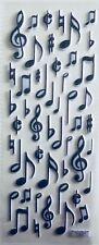 Music Notes Black Puffy Scrapbook Embellishment Stickers NIP