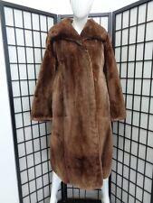 EXCELLENT BROWN SHEARED ARCTIC BEAVER FUR COAT JACKET WOMEN WOMAN SZ 6 SMALL