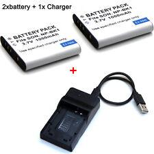 3.7V Battery / Charger For NP-BK1 Sony Cyber-Shot DSC-W180 DSC-W190 DSC-W370 USA