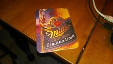 MILLER BEER GENUINE DRAFT POSTCARD ( CARDBOARD ) 1986
