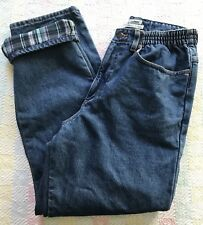Women's 10 L.L. Bean 10 Regular Relaxed Original Fit Flannel Lined Jeans EXC