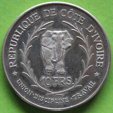 COTE D'IVOIRE 10 FRANCS 1966 ARGENT