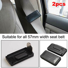 2x Car Seat Belt Stopper Buckle Improves Comfort Safety Adjuster Clips Fit Audi