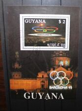 "FRANCOBOLLI STAMPS GUYANA 1988 ""OLIMPIADI / OLYMPICS"" USED BLOCK. (CAT.9)"