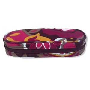 Vera Bradley Carnaby Structured Soft Eyeglasses Or Readers Case With Zipper