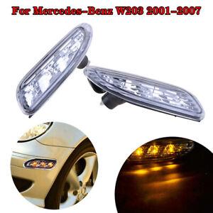 LED Marker Turn Signal Light For Mercedes-Benz W203 C200 C230 C240 C280 01-07