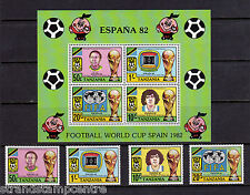 Tanzania - 1982 World Cup Football - U/M - SG 346-9 + MS350
