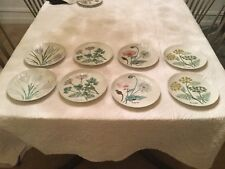 RARE FIND! Set Of 8 Shufford Horchow Flower Plate Saucer Perfect Cond Never Used