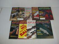 Lot of 9 American Rifleman Magazines 1990