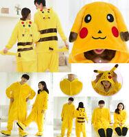 Anime Pikachu Pokemon Onesie Cosplay Costume Kigurumi Pajamas Sleepwear Cosplay