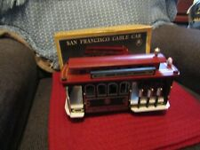 Pre-owned working 1985 Gatco San Francisco Cable Car music box w/box.